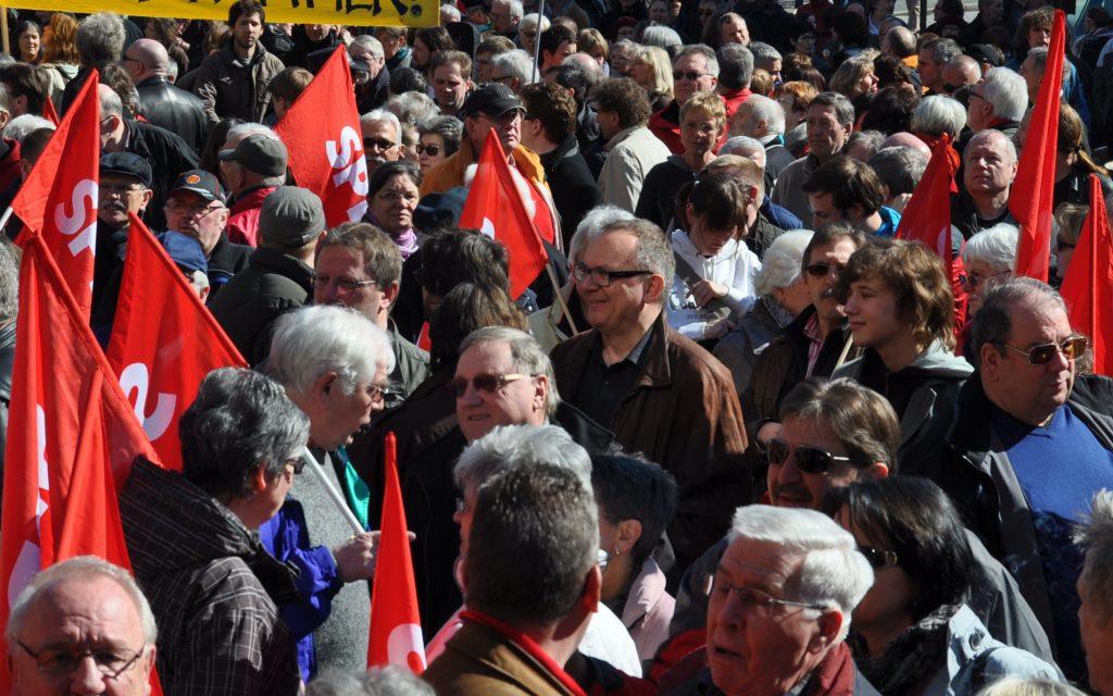 Kundgebung auf dem Willy-Brandt-Platz in Bochum am 20. März 2011
