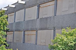 Das Gebäude der Hans-Böckler-Schule ist bereits entkernt.
