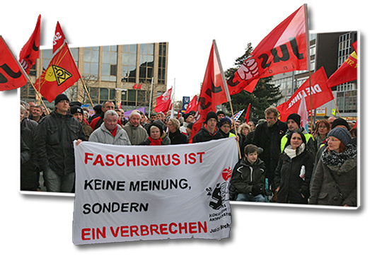 Faschismus ist keine Meinung sondern ein Verbrechen