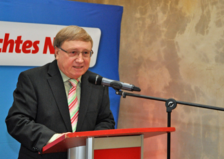 Dieter Fleskes beim Neujahrsempfang 2012 von SPD Bochum und SPD-Ratsfraktion.