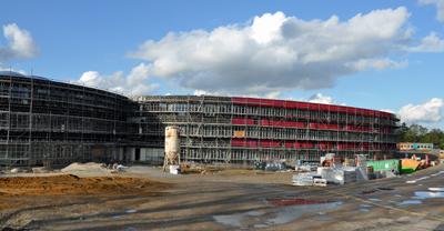 Die Baustelle des Neuen Gymnasiums Bochum