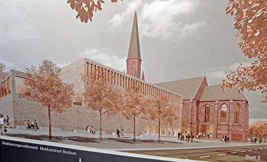 Ansicht des geplanten Musikzentrums an der Viktoriastraße.