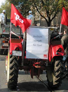 Demonstration für den Erhalt von Arbeitsplätzen bei Opel 2004