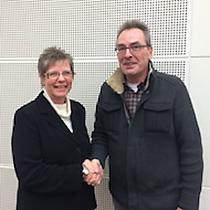 Ute Buch (stv. AfA-Vorsitzende Bochum) und Uwe Thiessen (AfA-Vorsitzender Bochum)
