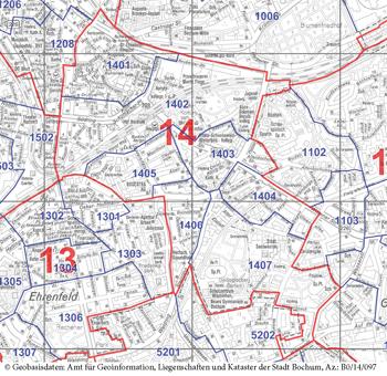 Innenstadt-Südost (Wahlbezirk 14) - Zum Vergrößern bitte anklicken (pdf)