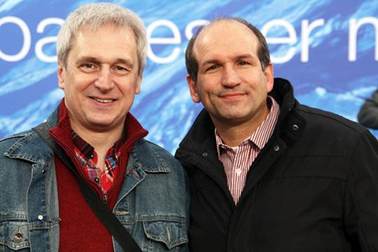Jürgen Mittag (rechts) im Gespräch mit Rainer Gans für den SPD OV Gerthe