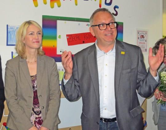Manuela Schwesig und Hans Hanke