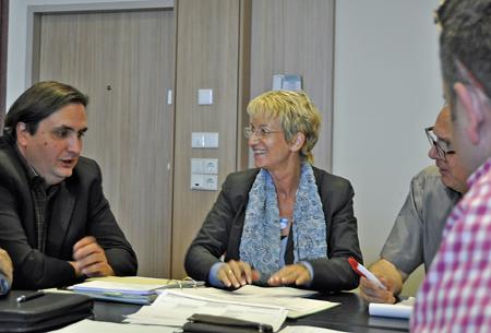 Ein weiterer Arbeitskreis kümmerte sich um Umwelt, öffentliche Ordnung und Kultur. Links Thilo Elsner, in der Mitte Martina Schmück-Glock, rechts Dr. Hans Hanke.