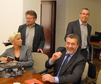 Gabriele Schuh, Hans Peter Herzog, Gerd Lichtenberger (vorne) und Ernst Steinbach