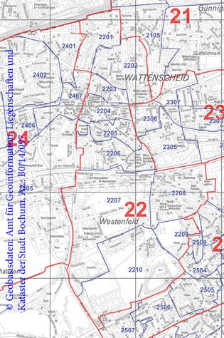 Wahlbezirk 22 Wattenscheid-Mitte / Westenfeld