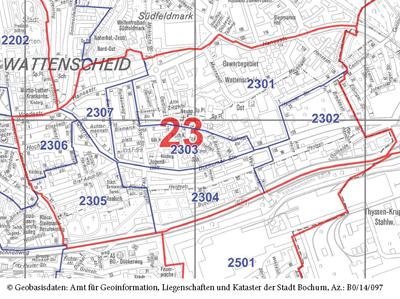 Wahlbezirk 23 - Wattenscheid-Mitte / Ost - Zum Vergrößern bitte anklicken (pdf)