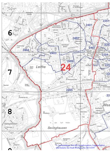 Wahlbezirk 24 Wattenscheid-West / Leithe - Zum Vergrößern bitte anklicken (pdf)