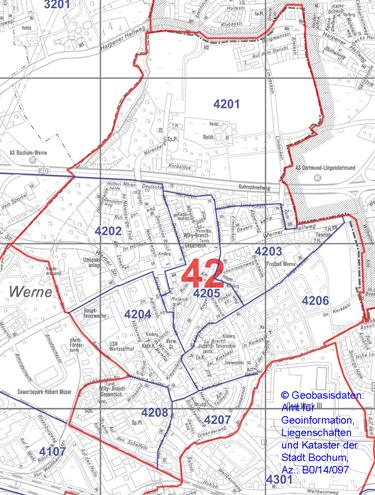 Wahlbezirk 42 - Werne - Zum Vergrößern bitte anklicken (pdf)