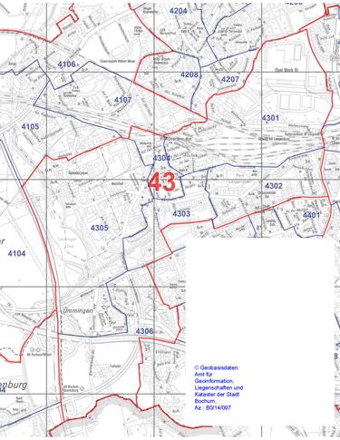 Wahlbezirk 43 - Alter Bahnhof und Ümmingen - Zum Vergrößern bitte anklicken (pdf)