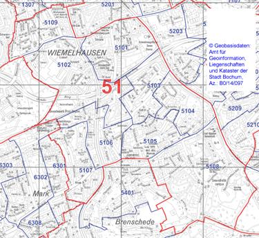 Wahlbezirk 51 - Wiemelhausen - Zum Vergrößern bitte anklicken (pdf)
