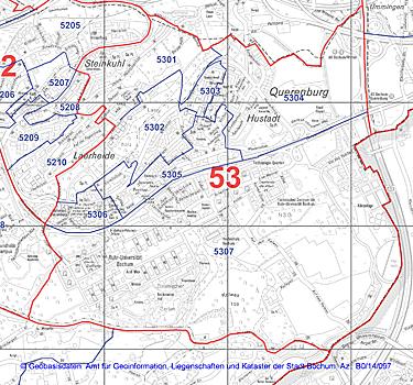Wahlbezirk 53 - Querenburg - Zum Vergrößern bitte anklicken (pdf)
