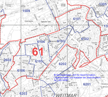 Wahlbezirk 61 - Weitmar-Bärendorf - Zum Vergrößern bitte anklicken (pdf)