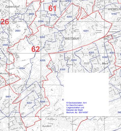 Wahlbezirk 62 - Weitmar-Mitte - Zum Vergrößern bitte anklicken