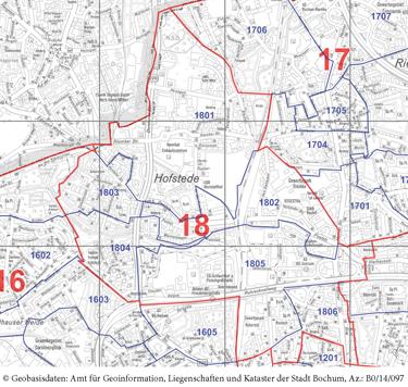 Wahlkreis 18 - Hofstede / Hamme-Nord - Zum vergrößern bitte anklicken (pdf)