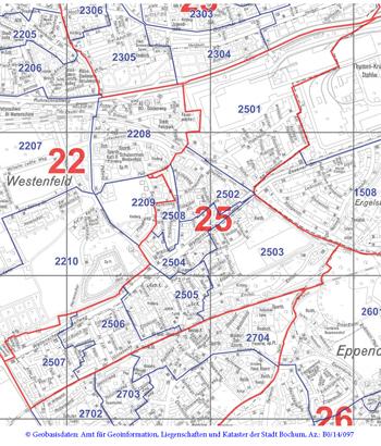 Wahlkreis 25 - Höntrop-Nord - Zum Vergrößern bitte anklicken (pdf)
