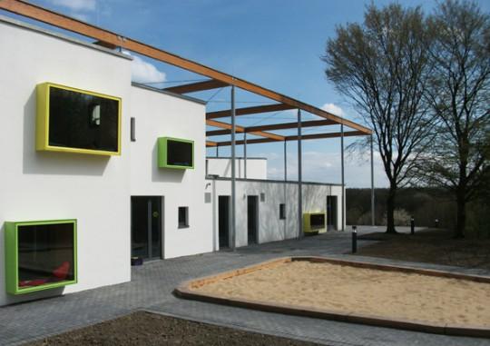 Kita UniKids, Ruhruniversität Bochum Architektur: Wörmann Architekten, Ostbevern Landschaftsarchitektur: FSWLA Landschaftsarchitektur, Düsseldorf Foto: Peter Wörmann