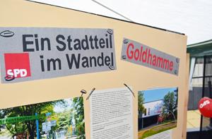 Goldhamme: Stadtteil im Wandel / Beim Westendfest auf dem Springerplatz am 30. August 2014 zeigte die SPD Innenstadt-West, wie sich Goldhamme unter anderem durch den Stadtumbau verwändert hat.