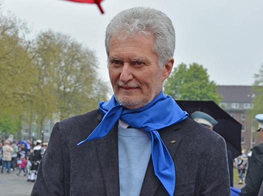 Der stellvertretende Vorsitzende der SPD-Ratsfraktion Bochum Hermann Päuser beim 627. Maibendfest am Samstag (25. April 2015).