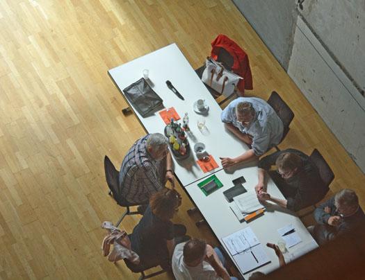 Gruppenarbeit bei der Klausur der SPD-Ratsfraktion Bochum.