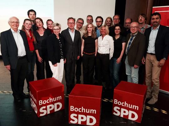 SPD-Parteitag: Der neu gewählte Vorstand der SPD Bochum