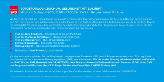 Bürgerdialog: Bochum. Gesundheit mit Zukunft. (Details)
