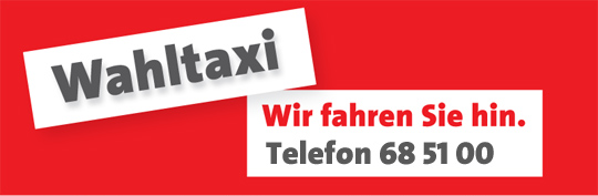 SPD-Bochum-Wahltaxi-Banner