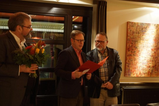 Jubilarehrung im SPD-Ortsverein Bochum-Stiepel durch den UB-Vorsitzenden Prof. Dr. Karsten Rudolph