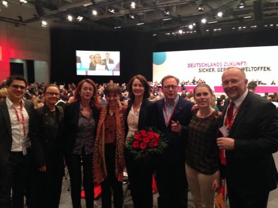 Delegierte der SPD Bochum (und Herne) auf dem SPD-Bundesparteitag 2015 mit der neuen Generalsekretärin Katarina Barley