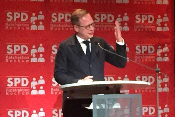Neujahrsempfang der SPD Bochum 2016: Karsten Rudolph, Vorsitzender der SPD Bochum