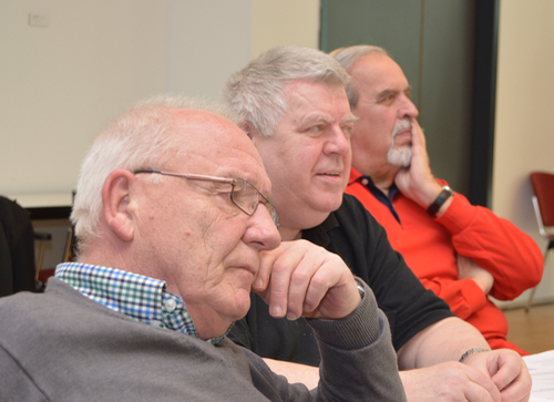 Klausurtagung der SPD-Ratsfraktion (v.l.): Ratsmitglied Reiner Kühlborn, Klaus Menzel (sachkundiger Einwohner im Sozialausschuss) und Wolfgang Schick, Vorsitzender der SPD in der Bezirksvertretung Wattenscheid.