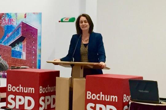 Katarina Barley, die Generalsekretärin der SPD, beim Parteitag der SPD Bochum