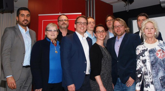SPD-Stadtbezirk Bochum-Wattenscheid: Der auf der Jahreshauptversammlung 2016 gewählte Vorstand