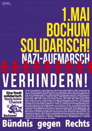 1. Mai 2016: Bochum solidarisch! Nazi-Aufmarsch verhindern!