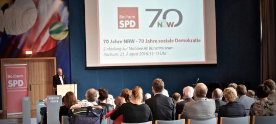 70 Jahre NRW - Matinee in Bochum: Fritz Behrens, Präsident der Kunststiftung NRW