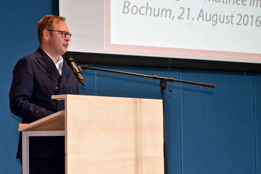 70 Jahre NRW - Matinee in Bochum: Karsten Rudolph, Vorsitzender der SPD Bochum