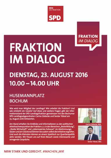 Fraktion im Dialog (Husemannplatz Bochum), 23. August 2016