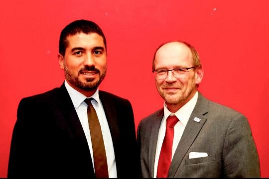 MdL Serdar Yüksel und Arbeitsminister Rainer Schmeltzer