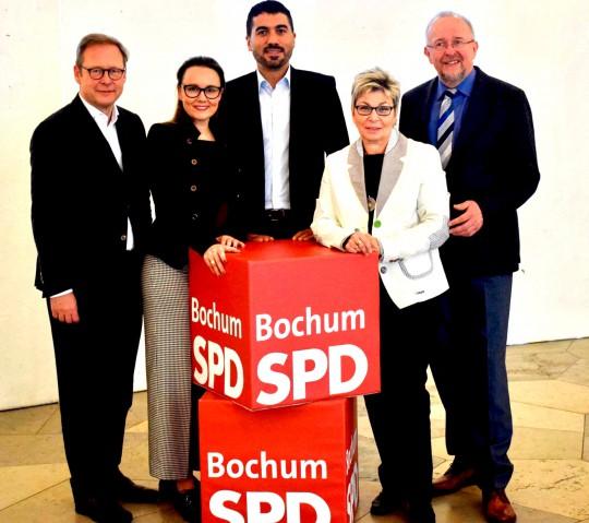 Unsere Kandidaten für den Landtag und den Bundestag: Karsten Rudolph, Michelle Müntefering, Serdar Yüksel, Carina Gödecke und Axel Schäfer