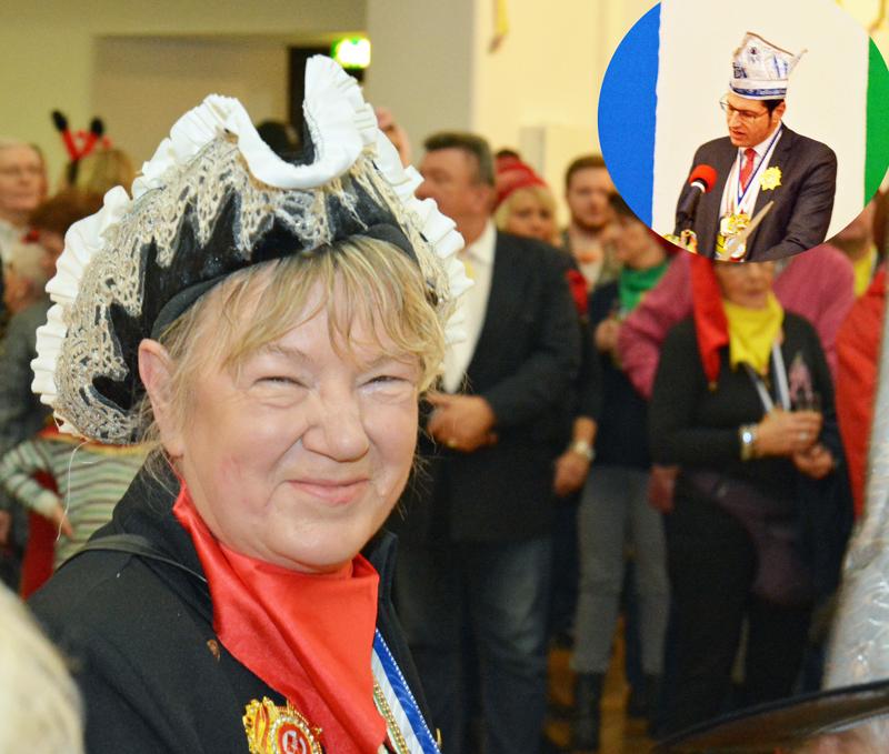 SPD-Ratsfraktion Bochum: Die Bochumer Karnevalsgesellschaften setzten am heutigen Rosenmontag (27. Februar) zum Rathaussturm an. Oberbürgermeister Thomas Eiskirch (kl. Foto) händigte schließlich die Schlüssel zum Rathaus aus. Im Bild: Bürgermeisterin Gaby Schäfer