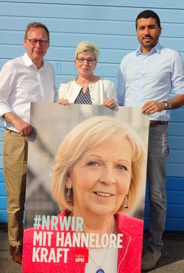 Die Landtagskandidaten der SPD Bochum: Karsten Rudolph, Carina Gödecke und Serdar Yüksel