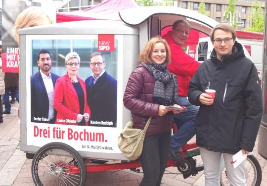 Drei für Bochum - und ein Teil unserer Wahlkämpfer der SPD Bochum. #ltwnrw #NRWwahlBO