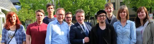 Wahlkampf mit Minister Michael Groschek in Bochum