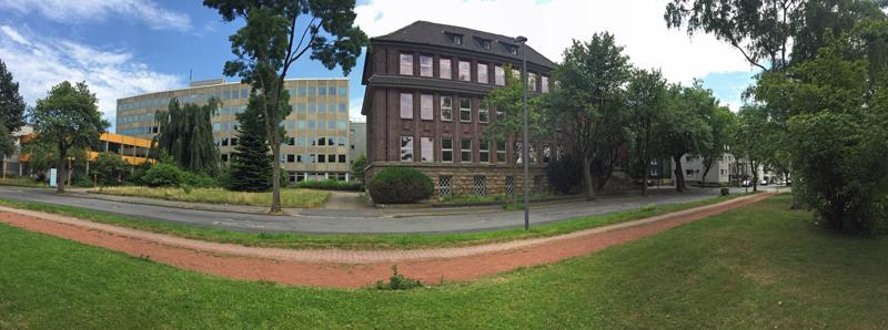 SPD-Ratsfraktion Bochum: Das ehemalige RWE-Verwaltungsgebäude an der Wielandstrasse / Ecke Freiligrathstrasse gehört zum Gebiet des Bebauungsplan-Entwurfs Nr. 981 - Wielandstrasse.