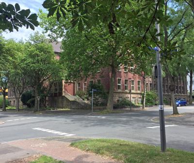 SPD-Ratsfraktion Bochum: Die Kreuzung Wielandstrasse / Ecke Freiligrathstrasse im südwestlichen Bereich des Bebauungsplan-Entwurfs Nr. 981 - Wielandstrasse.