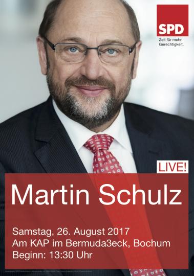 Martin Schulz - am Samstag, 26. August 2017 am KAP im Bermuda3eck Bochum (Beginn: 13:30 Uhr)